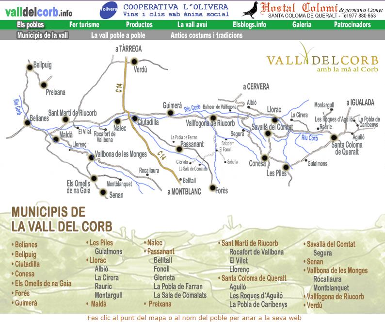 Vallfogona De Riucorb Mapa.Vall Del Corb Vallfogona De Riucorb Conca De Barbera